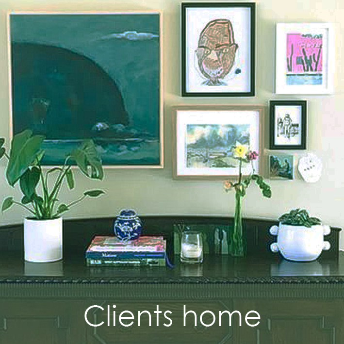 Original artwork by Robyn Pedley from the Headland series hanging in clients home