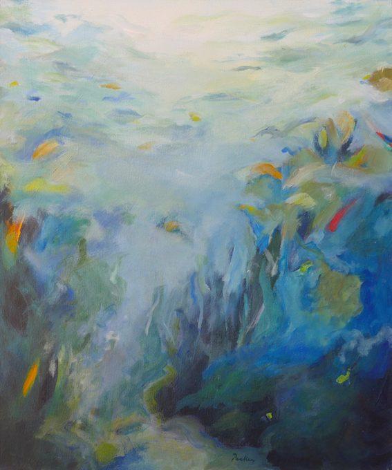 aqua, underwater landscape, original artwork by robyn pedley, bobbie p gallery