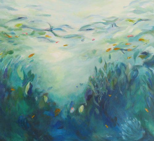 Aqua Vision 8, underwater landscape, original artwork by Robyn Pedley