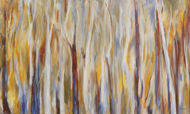 Forest Gold 3, landscape, original artwork by Robyn Pedley