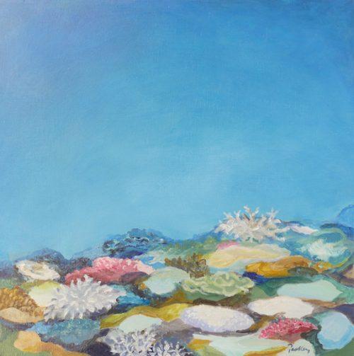 underwater landscape, ocean ridge, artist robyn pedley, bobbie p gallery