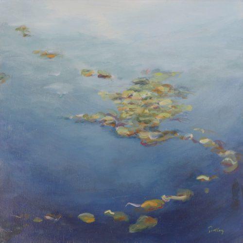 reflections blue/green, artist robyn pedley, landscape, beachscape, bobbie p gallery