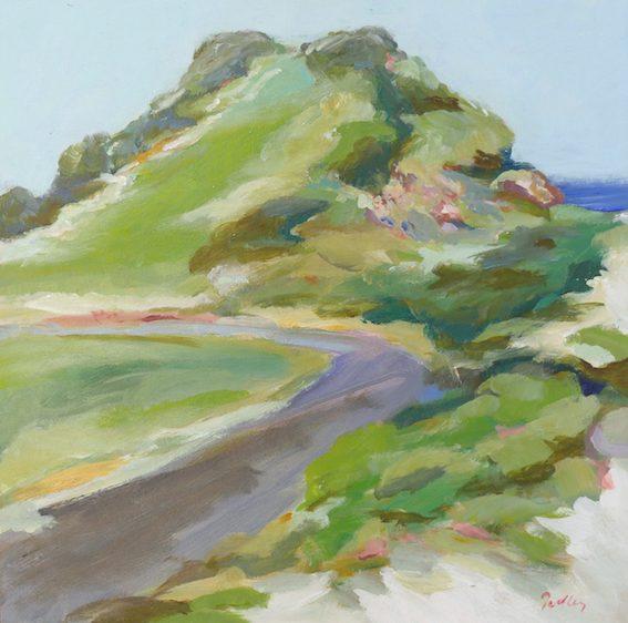 the view, artist robyn pedley, landscape, beachscape, bobbie p gallery