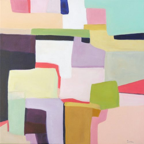 Villa I, abstract, original artwork by Robyn Pedley, bobbie p gallery